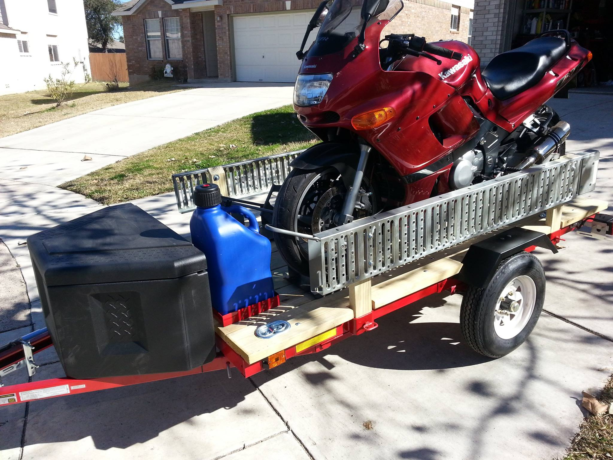 My Harbor Freight 4x8 Utility Trailer Build Out Zx6r Forum Light Wiring Kit